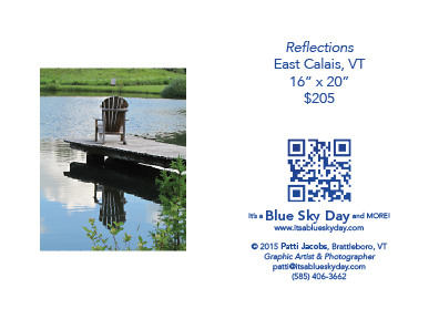 "Reflections :: East Calais, VT :: 16"" X 20"""